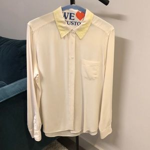 Equipment silk lace collar shirt
